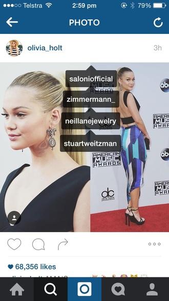 skirt olivia holt disney american music awards disney channel short dress zimmermann stuart weitzman