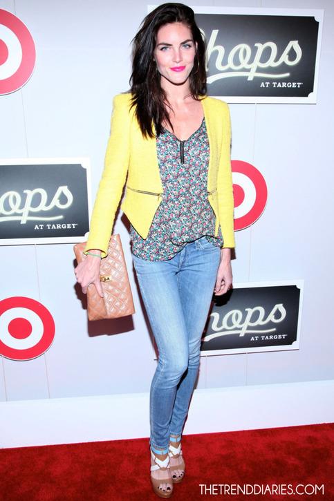Celebrity style stealer yellow blazer with zip