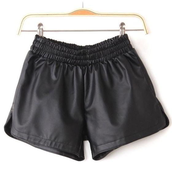 Silia leather shorts