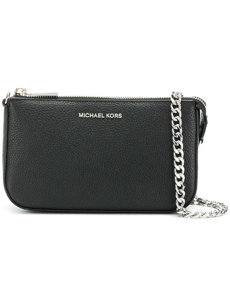 women clutch leather black bag