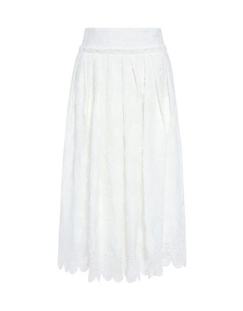 DEREK LAM 10 CROSBY skirt midi skirt soft midi lace white