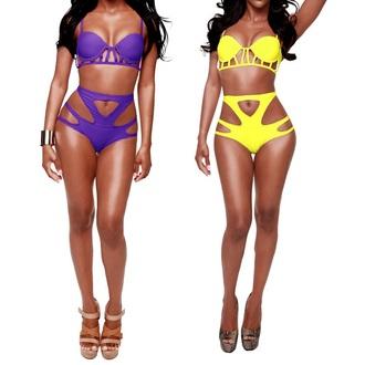swimwear high waisted bikini bikini top bikini bottoms strappy bikini