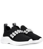 embellished,sneakers,black,shoes