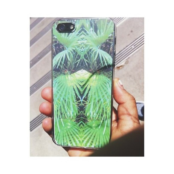 jewels phone case iphone 4 palmtrees green indie