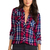 Rails Kendra Button Down in Red & White & Cobalt | REVOLVE