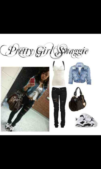 pants jeans jacket blouse jordans