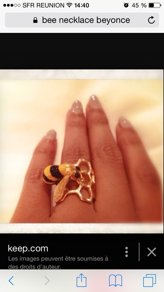 jewels beyonce bee ring gold jewelry finger rings