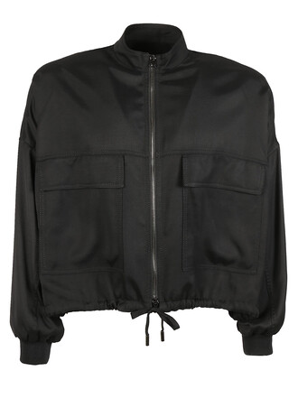jacket drawstring black
