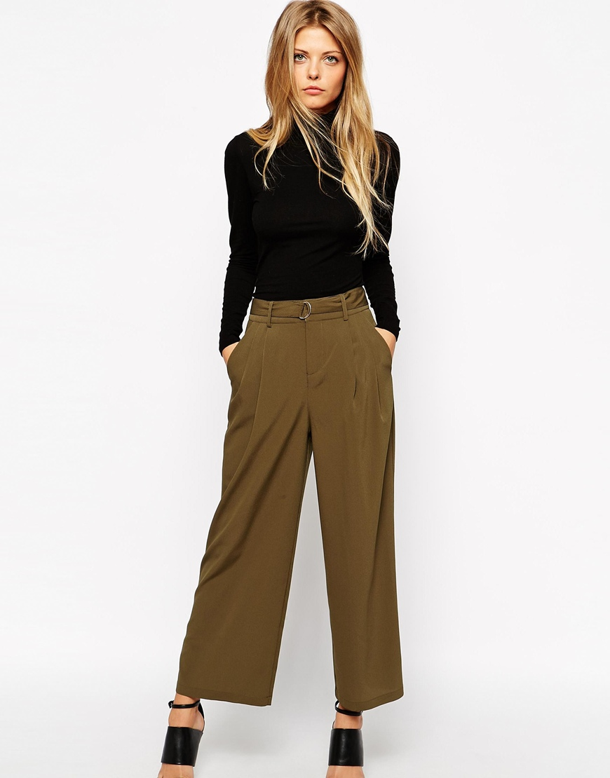 Asos woven utility trousers with d