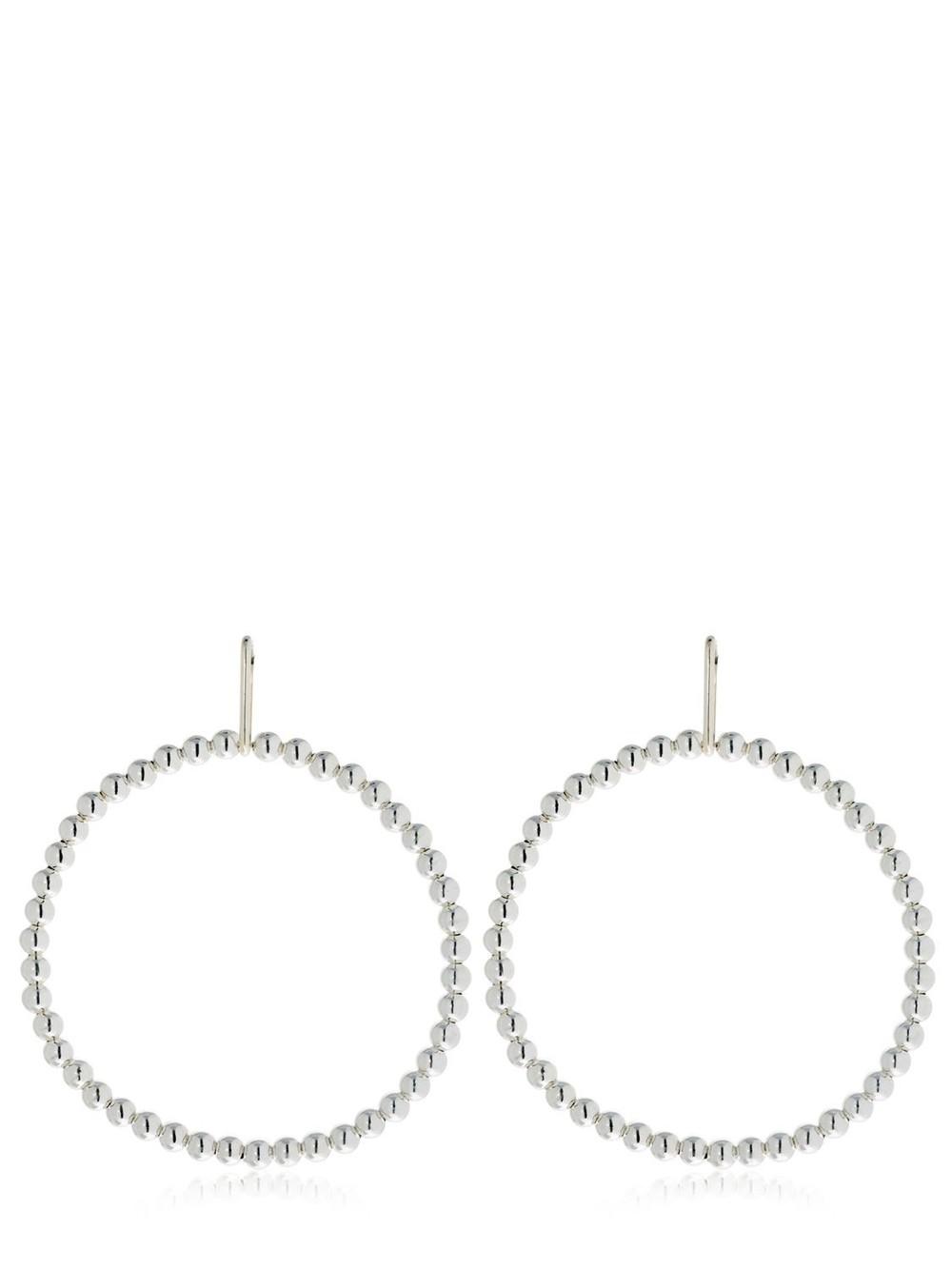 SASKIA DIEZ Liquid Hoop Earrings in silver
