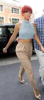 pants,rihanna,tailoring,nude,pink,blush,cute,sweater,crop tops,tank top
