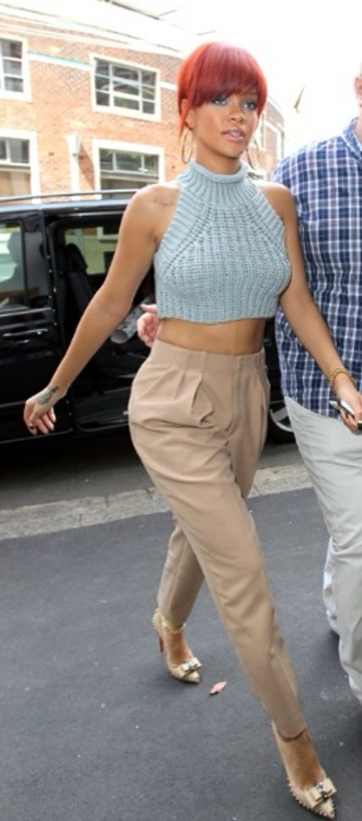 pants rihanna tailoring nude pink blush cute sweater crop tops tank top
