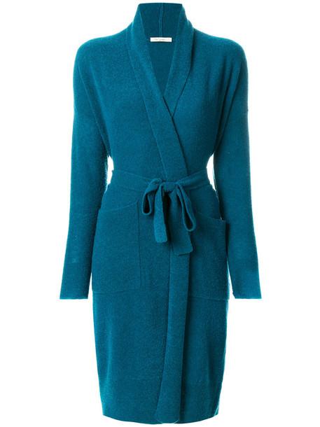 MES DEMOISELLES coat women blue wool
