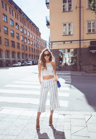 kenza blogger pants shoes top bag sunglasses jewels
