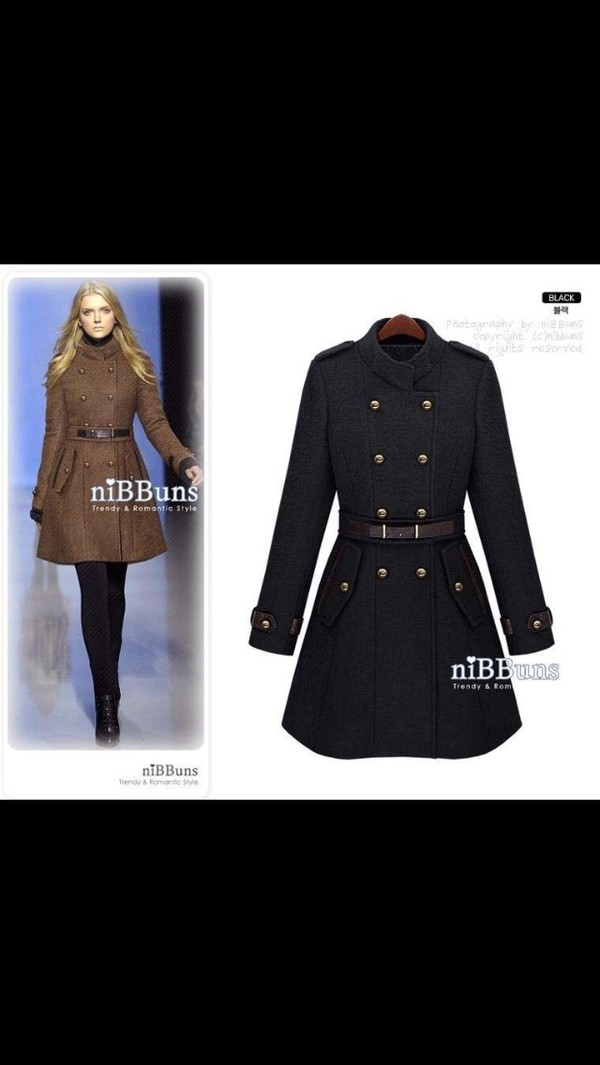 coat winter coat pea coat Khaki coat coat dress
