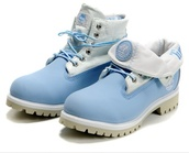 shoes,timberlands,fold over,fur,blue,boots