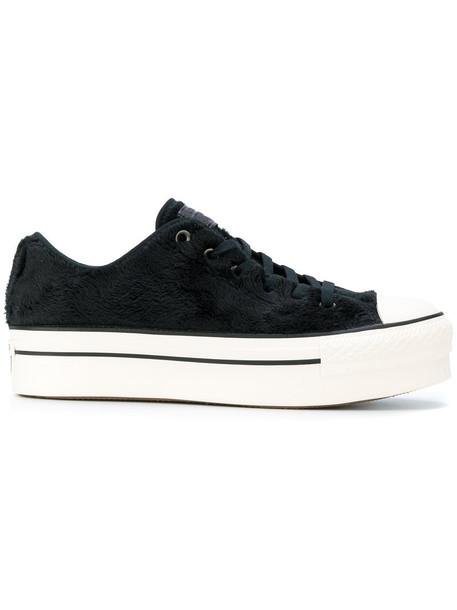 Converse - Chuck Taylor All Star OX platform sneakers - women - Cotton/rubber - 39.5, Black, Cotton/rubber