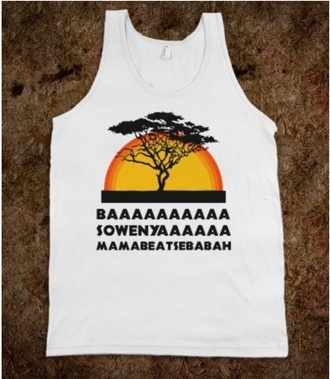tank top lion king shirt skreened t-shirt