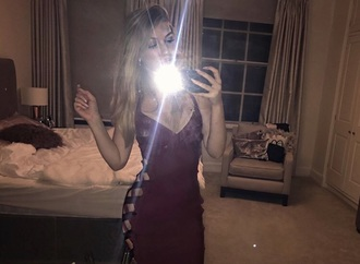 dress side split burgundy dress burgundy bodycon dress bandage red dress bow lace up dress decoletté