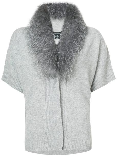 Sofia Cashmere cardigan cardigan fur fox women grey sweater