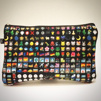 bag emoji makeup case cosmetics bag emoji print makeup bag girls fashion accessories cosmetic case holiday gift holiday season