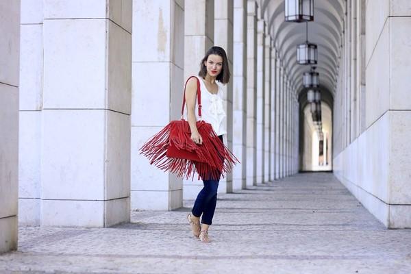 miss tangerine t-shirt jeans shoes bag