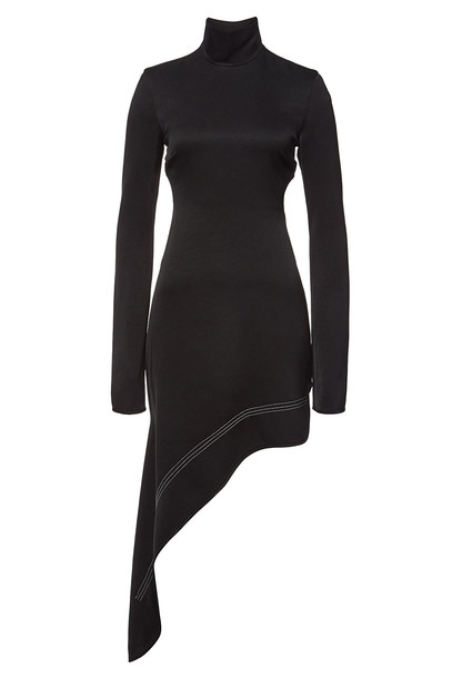 Ellery Bauhaus Asymmetric Dress with Cutout Back  in black