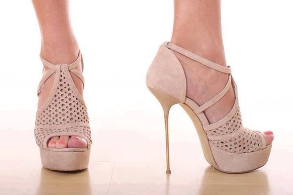 pale pink shoes beige shoes high heels