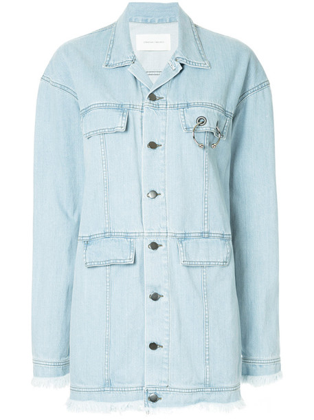 jacket women cotton blue