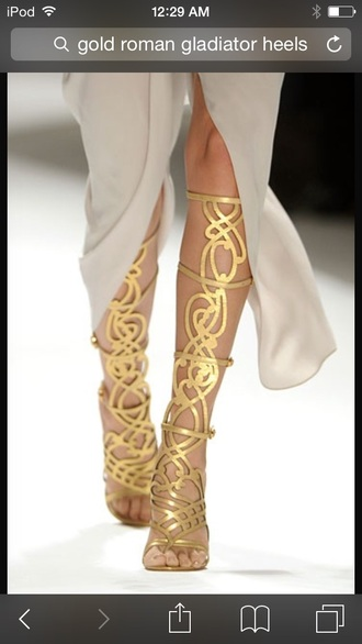 shoes gold heels golden gladiator heels high heels knee high gladiator sandals cutesyoriginals heels
