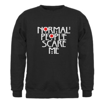 Amazon.com: CafePress Normal People Scare Me Sweatshirt dark: Clothing