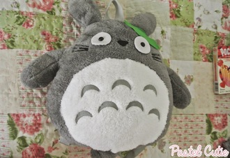 bag gary anime white kawaii stuffed animal totoro