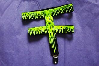 shorts garter slime accessory green melting