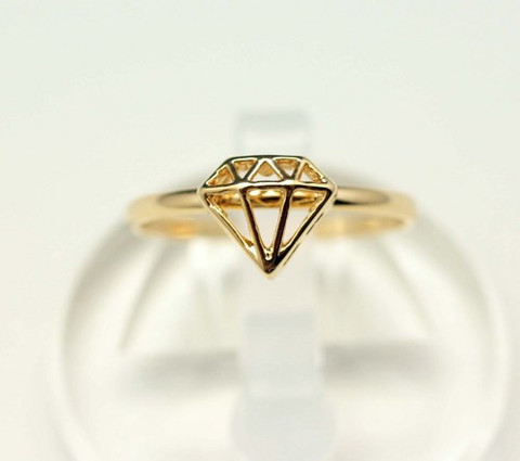 3D Diamond Shape Ring | Ring | ChichiMe