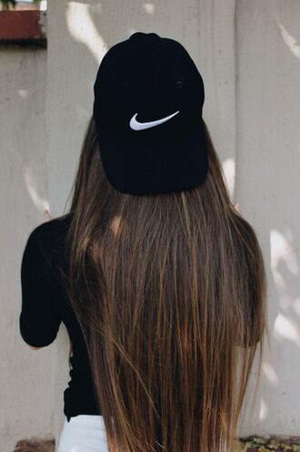 hat black cap cap nike nike cap hairstyles black top top