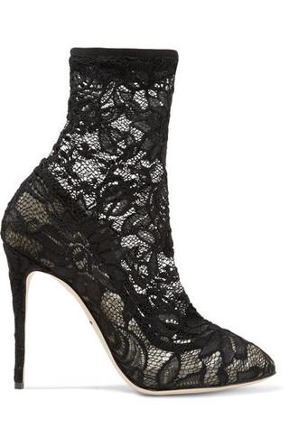 boots ankle boots lace black shoes