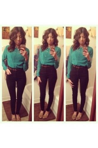 blouse leopard print dressy shirt