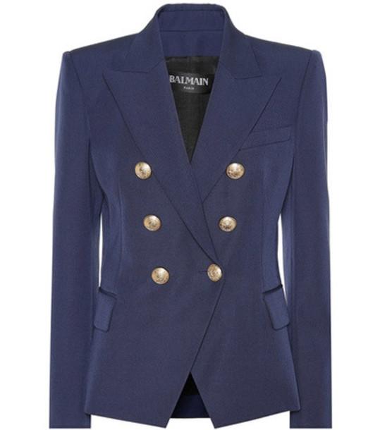 Balmain Wool blazer in blue