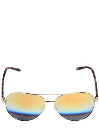 sunglasses aviator sunglasses black yellow