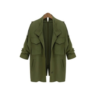 coat green army loose pockets winter spring summer style layers trend streetwear outfit cotton kim kardashian kylie jenner