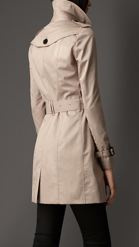 Mid-Length Double Sateen Trench Coat | Burberry