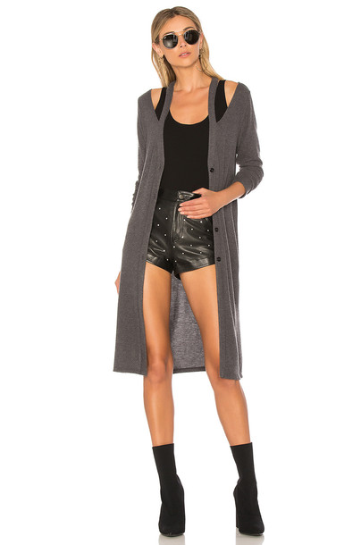 LA Made cardigan cardigan charcoal sweater