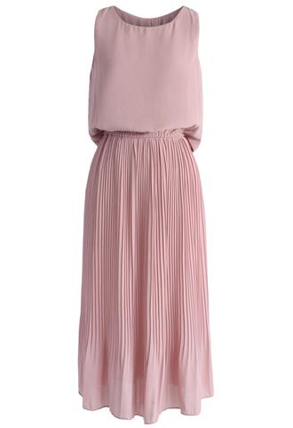 dress cutout waist pleated chiffon dress in pink chicwish chicwish.com pink dress maxi dress pleated summer dress sweet dress