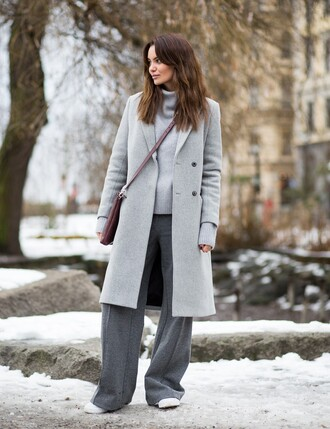 by funda blogger coat sweater pants shoes bag