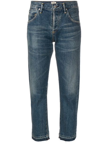 CITIZENS OF HUMANITY jeans cropped jeans cropped women boyfriend cotton blue