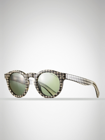 Houndstooth printed sunglasses