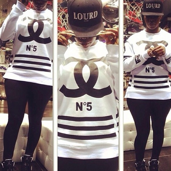 t-shirt chanel inspired white