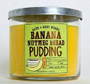 Amazon.com: Bath & Body Works Banana Nutmeg Bread Pudding 3 Wick 14.5 Ounce Scented Candle: Home & Kitchen