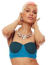 swimwear,navy,bikini top