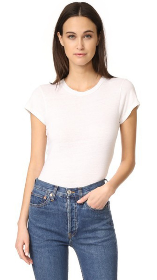 RE/DONE x Hanes 1960s Slim Tee in white